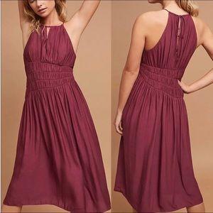 Moulinette and Soeurs Smocked Halter Midi dress